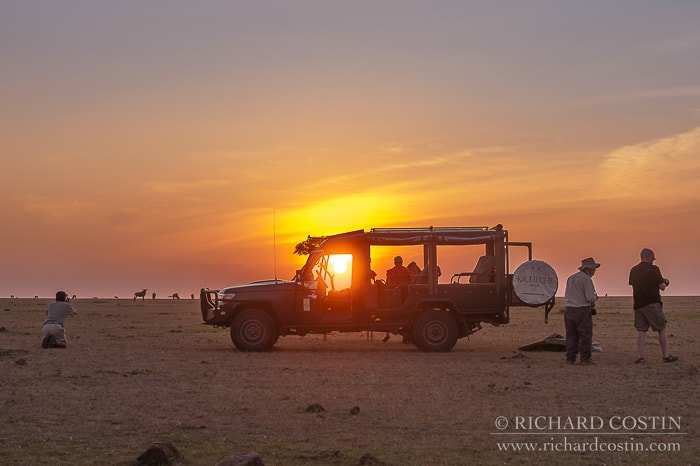 sun downers out on the plains of the masai mara reserve