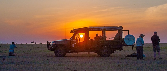 4x4 safari vehicle customised for photography on the african plains
