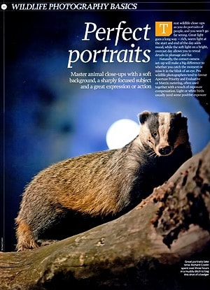 Magazine Wildlife Photography Article, Richard Costin